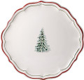 Gien Filets Noel Cake Platter 12.5 in.