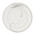 WATERFORD BALLET RIBBON WHITE ACCENT PLATE, 9 in. 151720