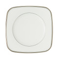 WATERFORD KILBARRY PLATINUM SQUARE ACCENT SALAD PLATE, 9 in 122369