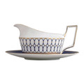 Wedgwood Renaissance Gold Gravy Boat and Stand