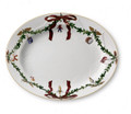 Royal Copenhagen Star Fluted Christmas Oval Platter 14.5 in 1017443