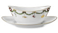 Royal Copenhagen Star Fluted Christmas Gravy Boat with Stand 1017450