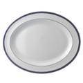 Bernardaud Athena Navy Oval Platter 13 in