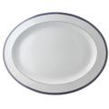 Bernardaud Athena Navy Oval Platter 15 in