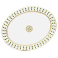 Bernardaud Constance Green Oval Platter 13 in