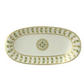 Bernardaud Constance Green Relish Dish 9x5 in