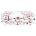 Juliska Country Estate Winter Frolic Ruby  Hostess tray 15x6 in CE54/73