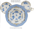 Herend Blue Garden 5-piece Place Setting