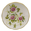 Herend American Wildflowers Dinner Plate Passion Flower 10.5 in FLA-PF20524-0-50