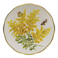 Herend American Wildflowers Dinner Plate Tall Goldenrod 10.5 in FLA-GR20524-0-50