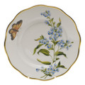 Herend American Wildflowers Salad Plate Blue Wood Aster 7.5 in FLA-AS20518-0-00