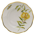 Herend American Wildflowers Salad Plate Meadow Lily 7.5 in FLA-LI20518-0-00