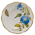 Herend American Wildflowers Salad Plate Morning Glory 7.5 in FLA-MG20518-0-00