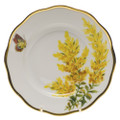 Herend American Wildflowers Salad Plate Tall Goldenrod 7.5 in FLA-GR20518-0-00