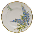 Herend American Wildflowers Salad Plate Texas Bluebonnet 7.5 in FLA-BB20518-0-00