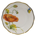 Herend American Wildflowers Bread and Butter Plate California Poppy 6 in FLA-PO20515-0-00