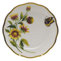 Herend American Wildflowers Bread and Butter Plate Indian Blanket Flower 6 in FLA-BF20515-0-00