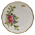 Herend American Wildflowers Bread and Butter Plate Prairie Rose 6 in FLA-PR20515-0-00
