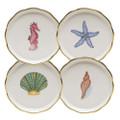 Herend Aquatic Dessert Coasters Set of Four MEVHS-00341-0-SET
