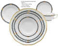 Herend Chinese Bouquet Garland Black Sapphire 5-piece Place Setting
