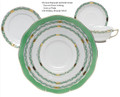Herend Chinese Bouquet Garland Green 5-piece Place Setting