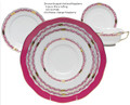 Herend Chinese Bouquet Garland Raspberry 5-piece Place Setting