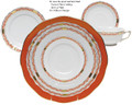 Herend Chinese Bouquet Garland Rust 5-piece Place Setting