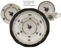 Herend Chinese Bouquet Black 5-piece Place Setting