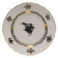 Herend Chinese Bouquet Black Bread and Butter Plate 6 in ANG---01515-0-00