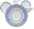 Herend Chinese Bouquet Blue 5-piece Place Setting