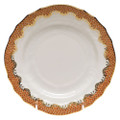 Herend Fish Scale Rust Bread and Butter Plate 6 in A-EHH-01515-0-00