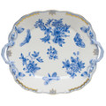 Herend Fortuna Blue Square Cake Plate with Handles 9.5 in VBOB--00430-0-00
