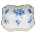 Herend Fortuna Blue Square Salad Bowl 10 in VBOB--01180-0-00