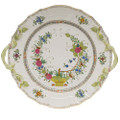 Herend Indian Basket Chop Plate with Handles 12 in FD----01173-0-00