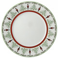 Bernardaud Grenadiers Red Stripe Accent Plate