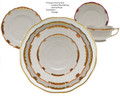 Herend Princess Victoria Rust 5-piece Place Setting