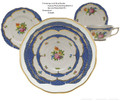 Herend Printemps with Blue Border 5-piece Place Setting