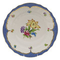 Herend Printemps with Blue Border Dinner Plate No.6 10.5 in BT-EB-01524-0-06