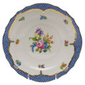 Herend Printemps with Blue Border Salad Plate No.4 7.5 in BT-EB-01518-0-04