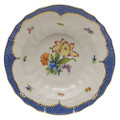 Herend Printemps with Blue Border Rim Soup No.5 9.5 in BT-EB-01503-0-05