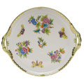 Herend Queen Victoria Round Tray with Handles 11.25 in VBO---00315-0-00