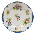 Herend Queen Victoria Blue Border Dessert Plate 8.25 in VBO-Y301520-0-00