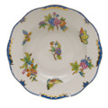 Herend Queen Victoria Blue Border Rim Soup Plate 8 in VBO-Y300505-0-00