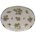 Herend Queen Victoria Blue Border Oval Platter 15 in VBO-Y301102-0-00