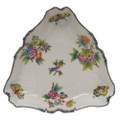 Herend Queen Victoria Blue Border Triangle Dish 9.5 in VBO-Y301191-0-00