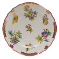 Herend Queen Victoria Pink Border Salad Plate 7.5 in VBO-Y401518-0-00