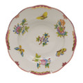Herend Queen Victoria Pink Border Rim Soup Plate 8 in VBO-Y400505-0-00