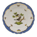 Herend Rothschild Bird Borders Blue Dinner Plate No.1 10.5 in RO-EB-01524-0-01