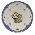 Herend Rothschild Bird Borders Blue Dinner Plate No.2 10.5 in RO-EB-01524-0-02