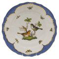 Herend Rothschild Bird Borders Blue Dinner Plate No.5 10.5 in RO-EB-01524-0-05